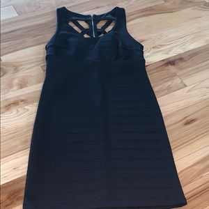 Little black dress with strappy back